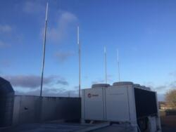 Antenna array for  Emergency Amateur  Radio Communications use on the roof of 'Delta Golf 20'